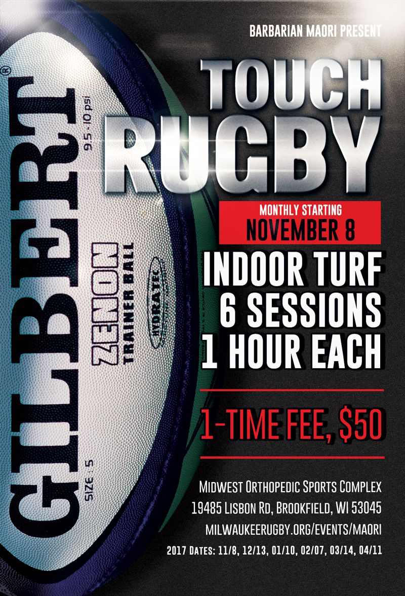 Milwaukee indoor touch rugby 2017