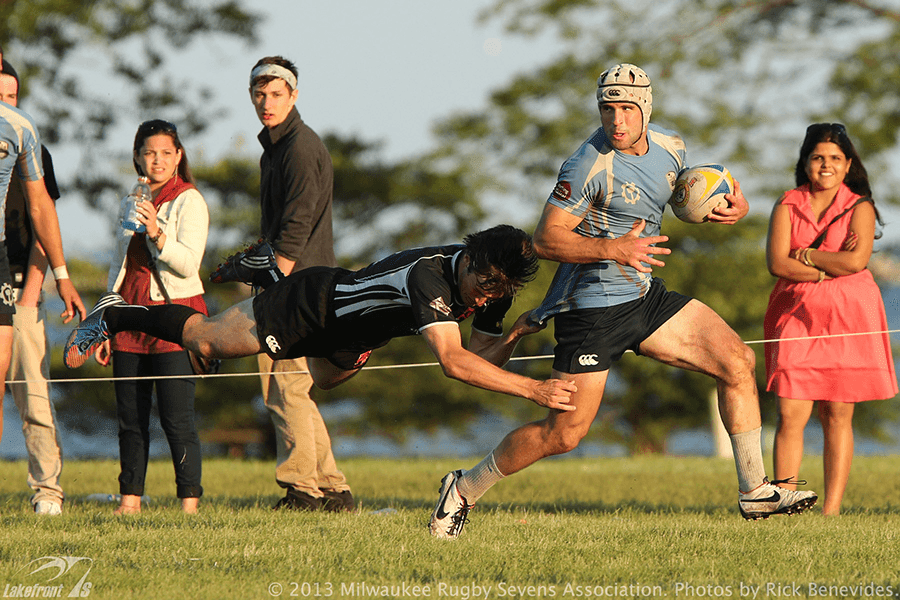 Milwaukee rugby player for the Barbarians at the 2013 Lakefront 7s