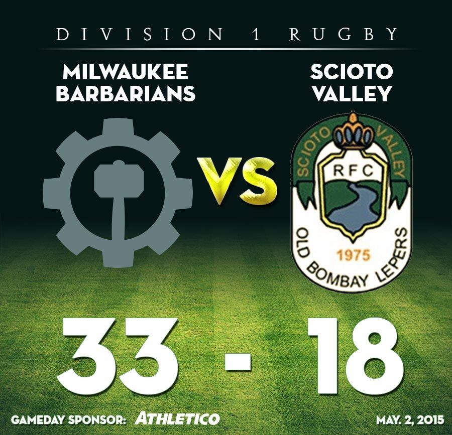 barbarians 33 - 18 scioto valley
