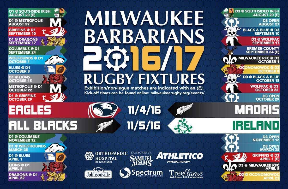 2016-2017 milwaukee rugby fifteens schedule