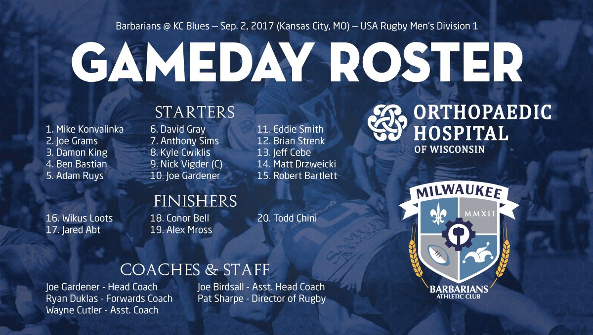 2017 09 01 milwaukee v blues roster