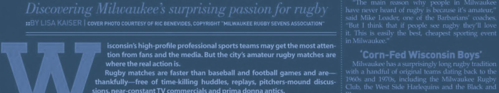 Milwaukee Rugby News Archive
